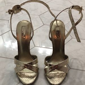 Gold Top Shop 5 inch heels ( size 7.5)